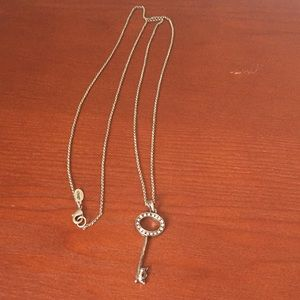 Distressed key necklace